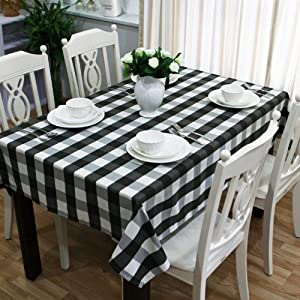 Amazon.com - Black and white gingham tablecloth -