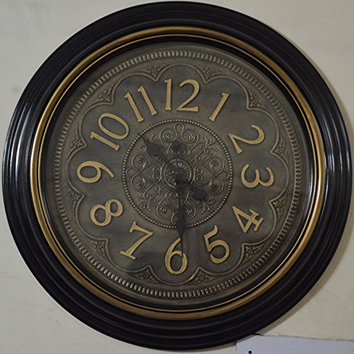 7481 Antique Look Royal Family Collection Vintage Wall Clock with Over All Diameter of 23 and Clock 17 Diameter