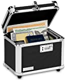 Vaultz Locking Personal Security Box, 7.75 x 7.25 x 10 Inches, Black (VZ00102-2)