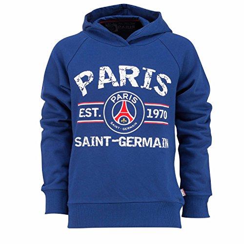Paris Saint Germain - Felpa con zip e cappuccio della squadra di calcio francese Paris Saint Germain, collezione ufficiale, da uomo, taglia adulto, Blu (blu), L