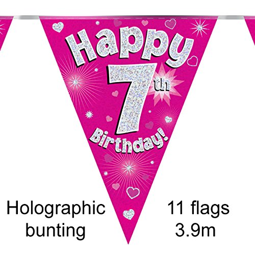 happy-7th-birthday-pink-holographic-foil-party-bunting-39m-long-11-flags