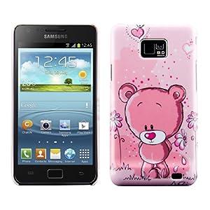 kwmobile® Hardcase Comic Design für Samsung Galaxy S2 i9100 / S2 PLUS i9105 in Rosa