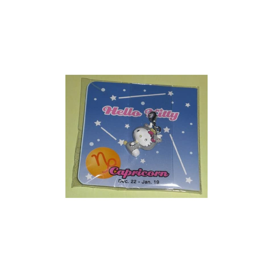 Authentic Sanrio Nakajima Hello Kitty Dangle Bracelet Charm (Can Use As Zipper Pull, Backpack Decoration)   Capricorn