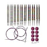 Knit Picks Options Wood Interchangeable Knitting Needles Set - US 4-11 (Rainbow) (Color: Rainbow)