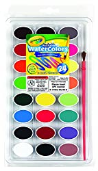Crayola Washable Watercolors 24ct Pan w/brush