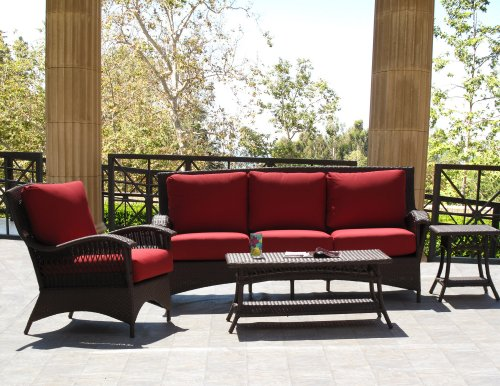Cheap Havana Brown Outdoor Patio Resin Wicker Sofa Lounge Chair 4