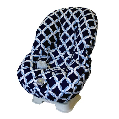 itzy ritzy toddler car seat cover social circle blue. Black Bedroom Furniture Sets. Home Design Ideas