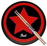 Pearl PDR-08SP Practice Drum Pad Übungspad 8' + Keepdrum 5A...