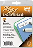 Jokari Label Once Erasable File Labels Refill Pack, 80-Count