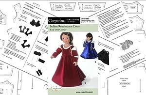 "Pattern for Italian Renaissance Dress - fits 18"" American Girl Dolls"