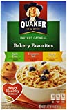 Quaker Instant Oatmeal Bakery Favorites, Variety Pack, 10-Count, 14.6 oz Boxes (Pack of 4)