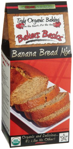 Truly Organic Baking Bakers Basics Organic Banana Bread Mix 15 7 Ounce Boxes Pack of 3