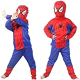 Spider Man Costume Fancy Dress Outfit Suit Mask Children (3-5 Years)