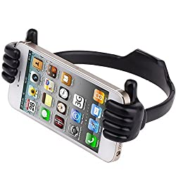 Cute Lovely Mount for iPhone 6,6 plus,iPad Mini,Universal Adjustable Thumb-Up Cradle, Mount, Stand for Tablets,Smartphones with 3.5-9.5inches for iPhone 6 6 plus 5s 5S 5C 5 Samsung Galalxy S3 S4 S5 NOTE 2 NOTE 3 NOTE 4 (Black)