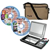 Brother Flip-Pal Deluxe Bundle Mobile Scanner with Creative Suite Craft Edition 2.0 DVD/Carrying Case/SD to USB adapter