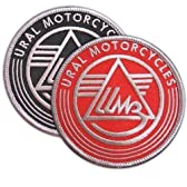 RUSSIAN MOTORCYCLES URAL PATCH BIKE SIDECAR EMBROIDERED EMBLEM TWO PATCHES SET by VegasBee [並行輸入品]