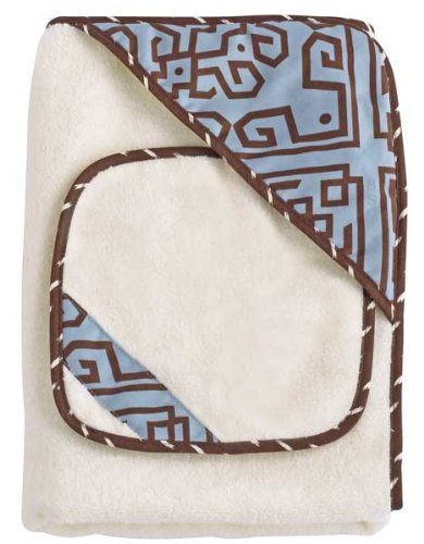 Corlu Hooded Bath Wrap & Wash Cloth Set - 1