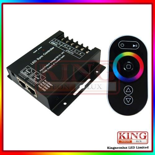Remote Touch Controller Of Rgb Led Strip 12V-24V 8A Each Channel 288W 576W