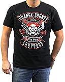 Orange County Choppers Mens Pipeskull Short Sleeve Tee, Large, Black