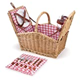 Search : Picnic Time Piccadilly 16-Inch Double-Lid Picnic Basket with Service for 2