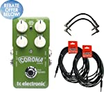 TC Electronic Corona Chorus Pedal w/4 FREE Cables! from TC Electronic
