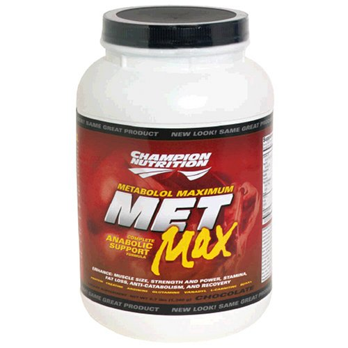 Champion Nutrition Met Max Complete Anabolic Support Formula, Chocolate, 43.2 Ounce Plastic Jar