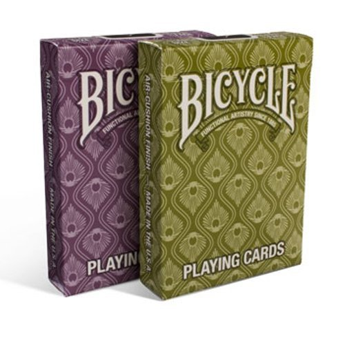 Lot 2 Bicycle® Peacock Deck Stylish Simple Splendid Playing Cards - 1