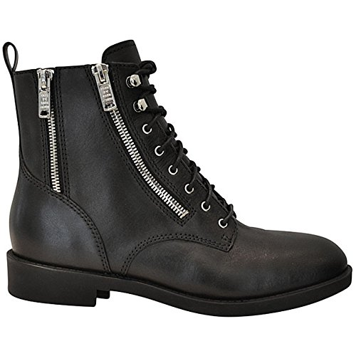 MARC BY MARC JACOBS WOMENS M9000450NR BLACK LEATHER ANKLE BOOTS