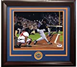 Mike Piazza Signed 8x10 Photo FRAMED w/ NY Mets Coin Autograph PSA / DNA COA
