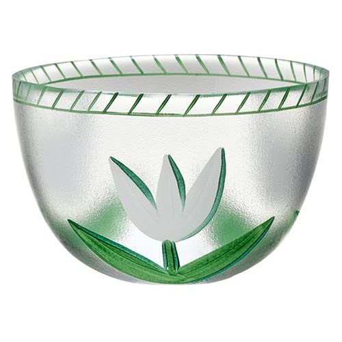 Amazon.com | Kosta Boda Tulipa Bowl, Green White: Serving