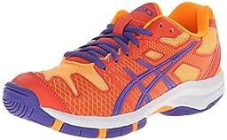 ASICS GEL Solution Speed GS Tennis Shoe (Little Kid/Big Kid),Hot Coral/Lavender/Nectarine,1.5 M US Little Kid