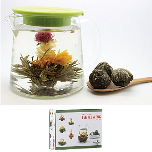 12 Blooming Flowering Green Tea Gift Box (Strawberry)