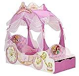 Disney-Princess-Kutsche-Bett-fr-Kleinkinder-mit-Aufbewahrungsschublade