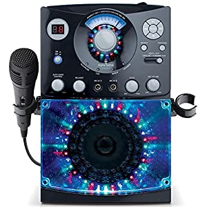 Singing Machine SML-385 Top Loading CDG Karaoke System With Sound and Disco Light Show (Black)