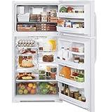 GE 21.0 Cu. Ft. White Freestanding Top-Freezer Refrigerator - GTH21KCXWW