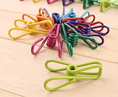 WOVTE® Set of 10 Multi-purpose Colorful Metal Clips Holders