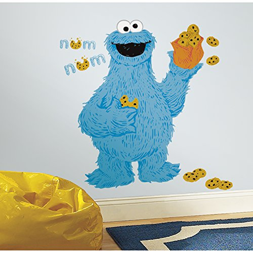 RoomMates RMK2627GM C is for Cookie Monster Peek and Stick Wall Decals