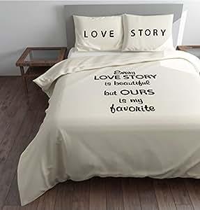 sleeptime housse de couette every story 200x200 220 creme avec 2 housse d oreiller