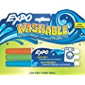 Washable Dry Erase Markers, Fine Tip, Assorted Colors, Set of 3
