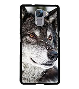 Tiger 2D Hard Polycarbonate Designer Back Case Cover for Huawei Honor 7 :: Huawei Honor 7 Enhanced Edition :: Huawei Honor 7 Dual SIM