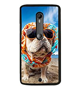Dog with Sunglasses 2D Hard Polycarbonate Designer Back Case Cover for Motorola Moto X Style :: Moto X Pure Edition