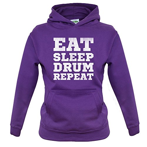 Eat-Sleep-Drum-Repeat-Kinder-HoodieKapuzenpullover-9-Farben-1-13-Jahre
