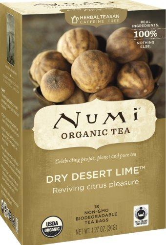 Numi Tea Dry Desert Lime, Herbal Teasan, 18-Count Tea Bags (Pack Of 3)