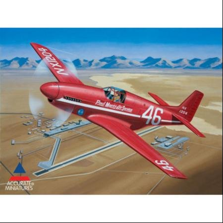 Accurate Miniatures 1/48 Paul Mantz Air Service P-51C Mustang: Bendix Transcontinental Race Model KitAccurate Miniatures 1/48 Paul Mantz Air Service P-51C Mustang: Bendix Transcontinental Race Model Kit