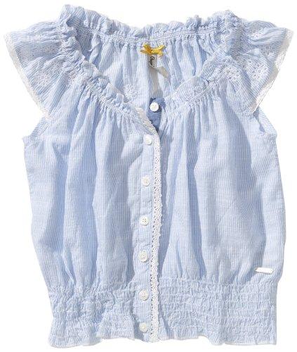 Pepe Jeans - Camicetta, Manica corta, Bambina, blu (Blau (Blue)), 116 cm