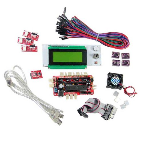 Geeetech Reprap Sanguinololu Set,Lcd2004 Smart Controller,4-Layer A4988,Sd Reader,Endstop,Fan,Heatsink 3D Printer Prusa Mendel