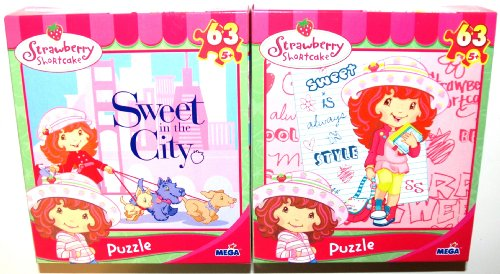 Cheap Mega Brands Strawberry Shortcake 63 Piece Jigsaw Puzzles, Set of 2, Sweet is Always in Style and Sweet in the City (1 Set) (B001G8J2MW)