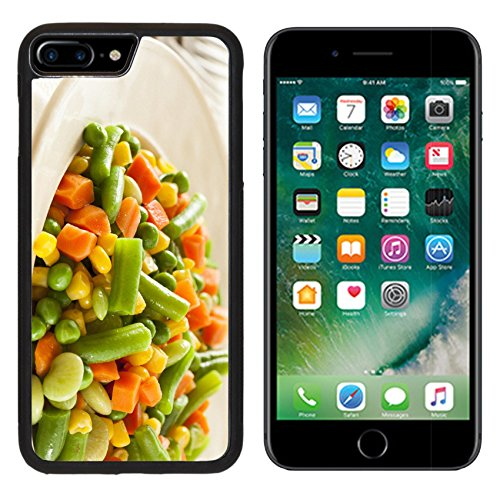 MSD Premium Apple iPhone 7 Plus Aluminum Backplate Bumper Snap Case Steamed Organic Vegetable Medly with Peas Corn Beans and Carrots IMAGE 22375425 (Steamed Corn compare prices)