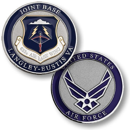 633rd Airbase Wing, Joint Base Langley-Eustis, VA Challenge Coin