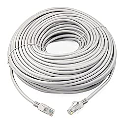 BEcom Length 30 Yard Approximately 27.43 Meters. Ethernet Patch Cord CAT5 RJ45 Lan Straight Cable